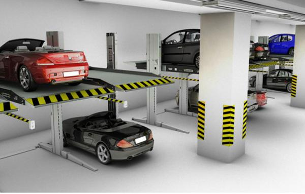 double_car_stackers_2_car_simple_parking_lift_undergroud_stacker_two_post